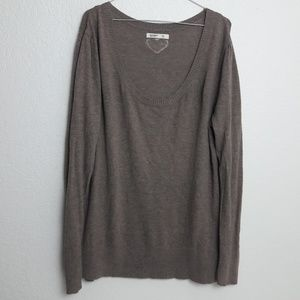 Old Navy Brown Knit Sweater Heart on Back XL  SOFT